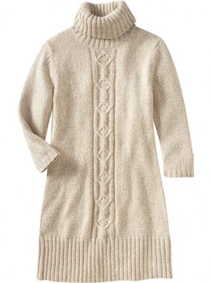 Old Navy Marled Turtleneck Sweater Dress