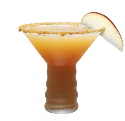 Picture of a Spiced Caramel Apple Christmas cocktail glass
