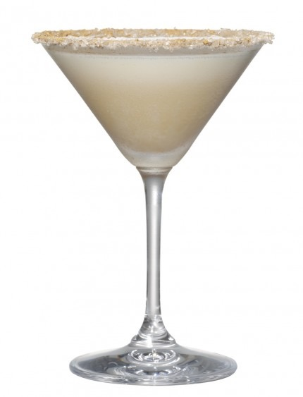 Picture of a Turtle Dove cocktail martini glass